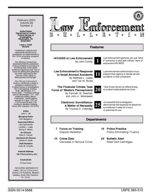 FBI Law Enforcement Bulletin Titelblatt