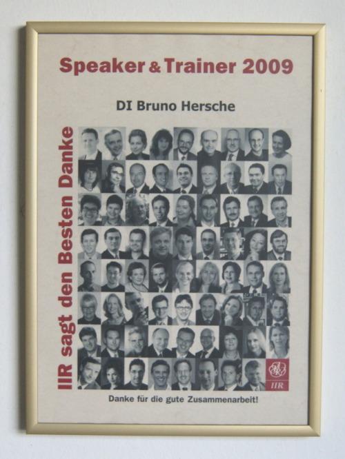 IIR Speaker of the Year 2009 / Zum Vergrößern auf das Bild klicken