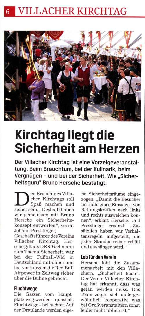 Kärnten Journal / Kärnten Journal Bericht Sicherheit Villacher Kirchtag 2011 / Zum Vergrößern auf das Bild klicken