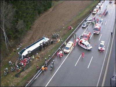 Luftaufnahme Rettungsfahrzeuge / Zum Vergrößern auf das Bild klicken