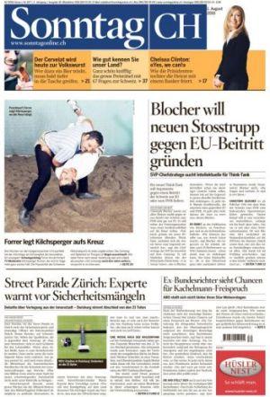 Titelblatt Sonntag CH 1.8.10