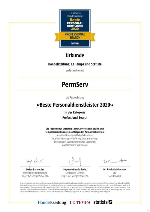 PermServ / urkunde_permserv_2020_gr8 / Zum Vergrößern auf das Bild klicken