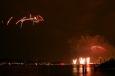 Feuerwerk Zürifest 2010 aus dem Helikopter / Zum Vergrößern auf das Bild klicken