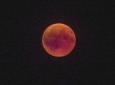 Bruno Hersche / verfinsterter roter Mond / Zum Vergrößern auf das Bild klicken
