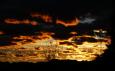 Bruno Hersche / Wolken in Abendsonne